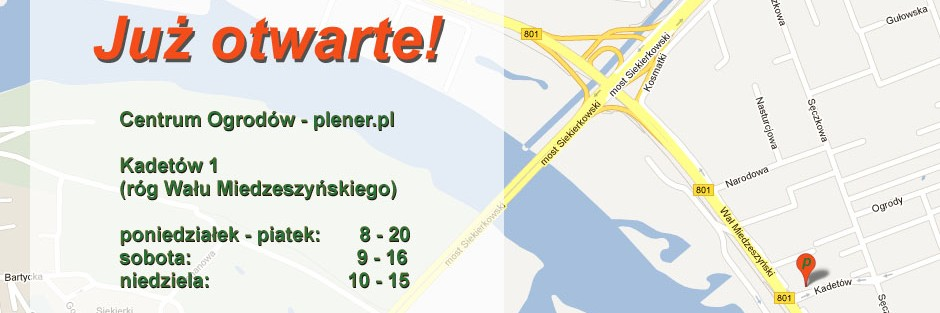 plener.pl – Centrum Ogrodów na Wale Miedzeszyńskim już otwarte